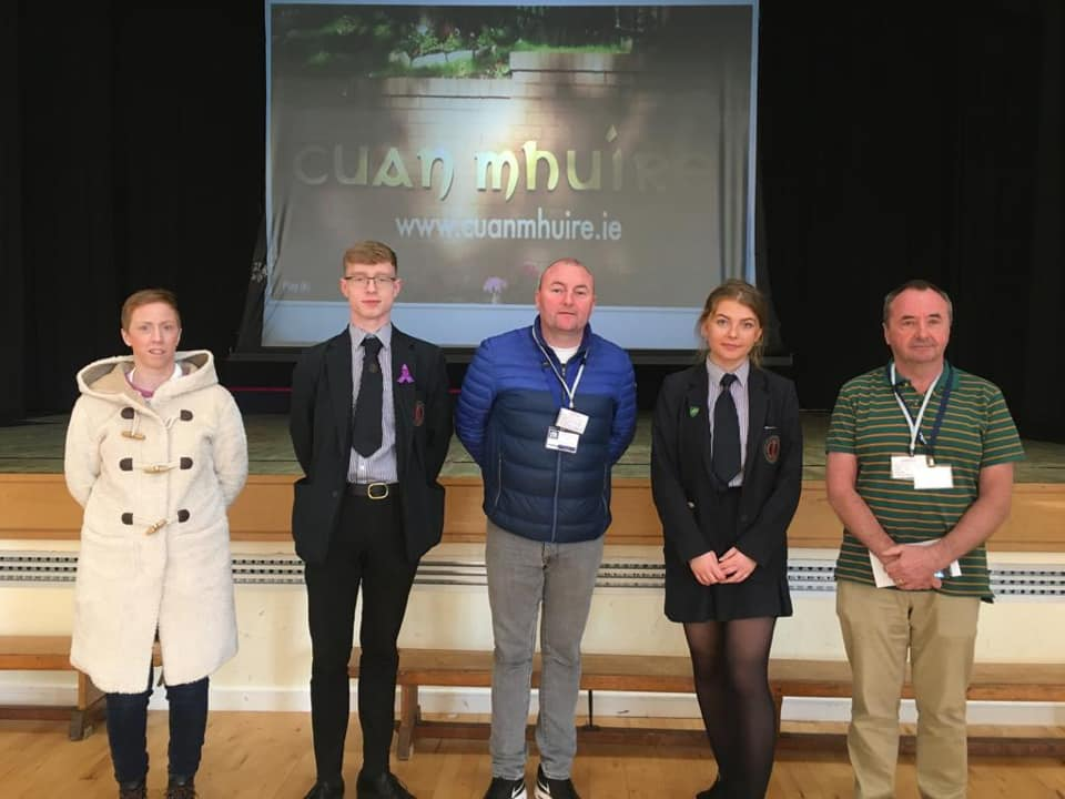 Post 16 students had the opportunity to hear about the work for those experiencing addictions in Cuan Mhuire.