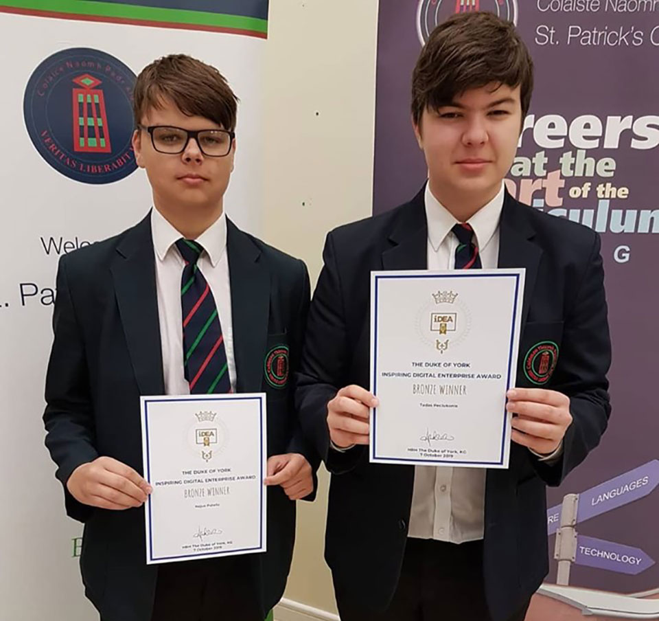 Well done to Tadas and Nojus in year 12 who are our first bronze Duke of York winners!